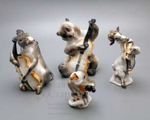 Composition of porcelain statuettes of the