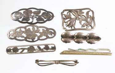 The post silver brooches, among other things,