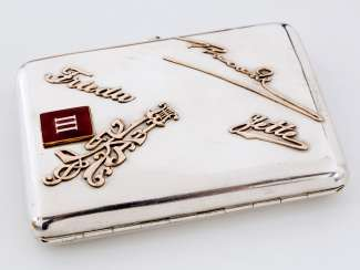 Cigarette case with Golden inscriptions