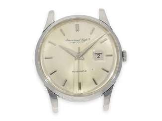 Watch: rare large vintage mens watch, IWC Automatic with Central seconds hand, steel, Schaffhausen, 1963