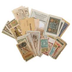 Banknotes, mainly Germany , 19. Century/1.H. 20. Century. -