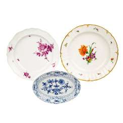 MEISSEN / KPM BERLIN mixed lot of three bowls, 19th and 20th centuries
