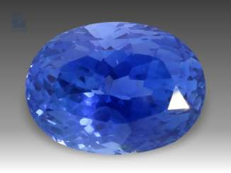 Sapphire: fine untreated Ceylon sapphire of 4.82 ct with the original certificate of the Gem Trade Corporation, Sri Lanka (Ceylon), 1989