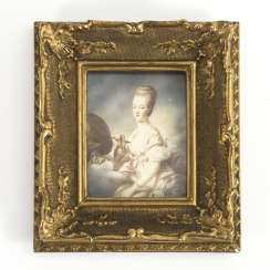 Miniature portrait: Marie-Antoinette as Hebe