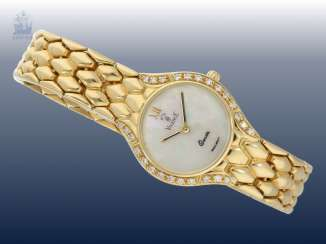 Watch: noble, Golden ladies watch from the brand Vicence with brilliant trim, 18K yellow gold