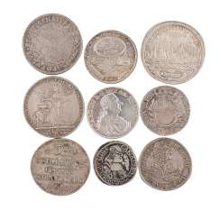 Interesting 9-piece assortment of coins 17./18. Century -