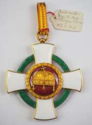 Hungary : order of merit of the Holy crown, commander's cross with war decoration.