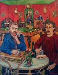 Meeting in Arly Van Gogh and Paul Gauguin