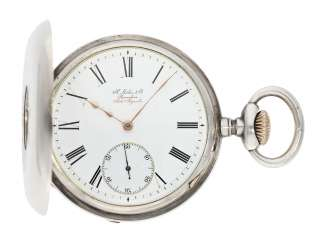 Pocket watch: historically interesting Patek Philippe half-savonnette - delivered in 1882 to the commercial agent of Patek Philippe in Shanghai and sold to the German diplomat and the Consul of Taiwan, Dr. Constantin Merz (1859-1921)