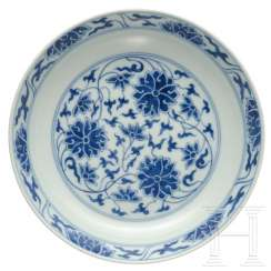 Xuantong branded blue and white bowl, China, 1908-12