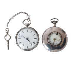 Group of Two pocket watches, approx. 18./19. Century,