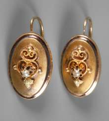 Pair Of Biedermeier Earrings