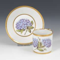 Cup with hydrangea painting, GOTHA