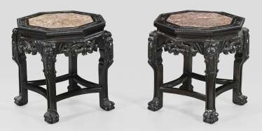 Pair of Chinese small side tables