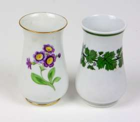 Meissen *vine leaves* Vase, among other things,
