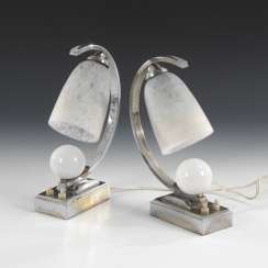 2 Art Deco night table lamps, SCHNEIDER