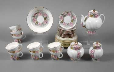 Tea service for nine people
