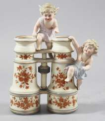 Porcelain Group, painted, 19. Century