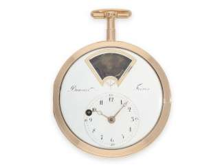 Pocket watch: important and extremely rare Golden pocket-watch-automat