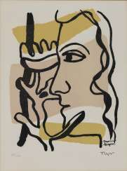 Fernand Léger - Profile to the Flower. Two Women. 1948