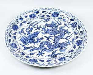 Extraordinary large chinese procelain plate