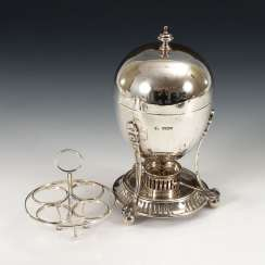 English Egg Warmer, Silver.