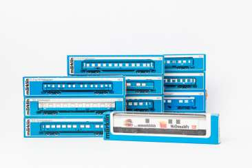 MÄRKLIN mixed lot of 12 cars, gauge H0,