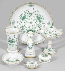 Collection of Meissen porcelain with decor