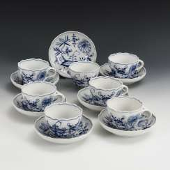 7 onion sample cups and saucers