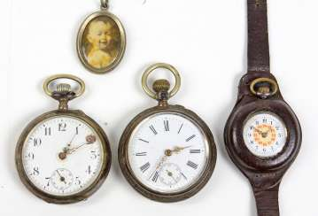 3 pocket watches, among other things,