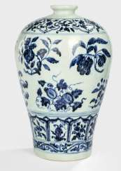 Underglaze blue decorated Meiping porcelain, with fruit branches