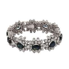 Bracelet with sapphires, together CA. 20 ct and brilliant-cut diamonds