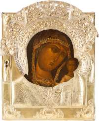 ICON OF THE MOTHER OF GOD OF KAZAN (KAZANSKAYA) WITH RIZA