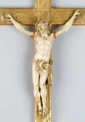 Small cross, I carved, wood gilded, 19.century