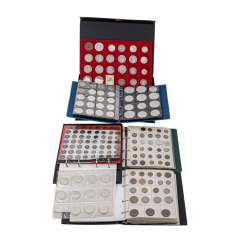 Large collection of coins and medals, with SILVER -