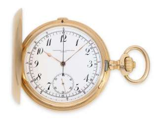 Pocket watch: extremely rare Vacheron & Constantin Geneve Anchor chronometer with a special Chronograph with production counters/number of items in register, specially crafted for Mascort & Bonturi Buenos Aires, CA. 1915