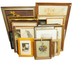 Pictures / graphics / paintings - from the inventory of an antique dealer - part 1.
