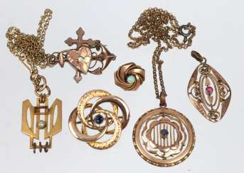 Post Art Nouveau double jewelry