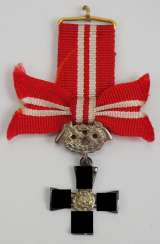 Finland: order of the freedom cross, 4. Class with swords miniature.