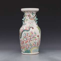 Qing Dynasty painting One hundred children Binaural vase