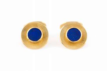 PAIR OF CUFFLINKS WITH LAPIS LAZULI 'GEORG LAUER'