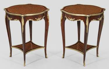 Pair of side tables in the Louis XV style