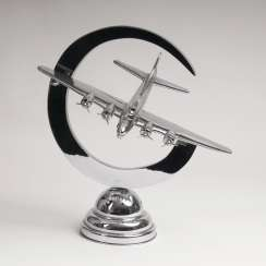 Propeller airplane model as a table lamp