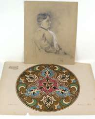 2 drawings - Rüll, Katharina around 1900