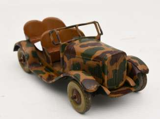 KÜBELWAGEN WITH camouflage paint, painted and lacquered sheet, Third Reich around 1940
