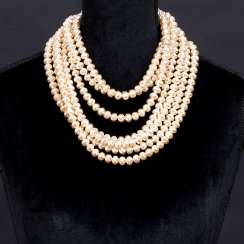Faux Pearls Kaskaden-Necklace 'Rive Gauche'