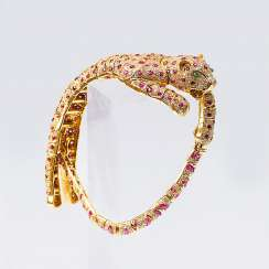 Ruby and diamond bracelet 'Panther'