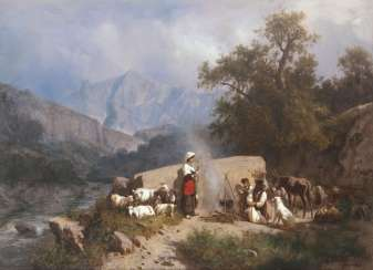 Shepherds in the mountains. Andreas Markó