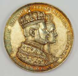 Prussia: medal for the coronation of king Wilhelm and Queen Augusta.
