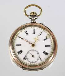 Mens Pocket Watch Silver 800